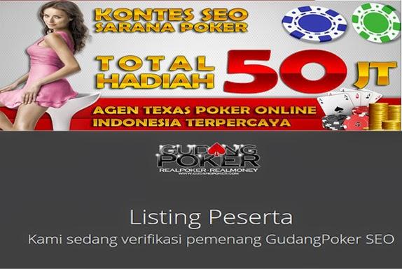 Kontes Seo SaranaPoker Dan GudangPoker.com