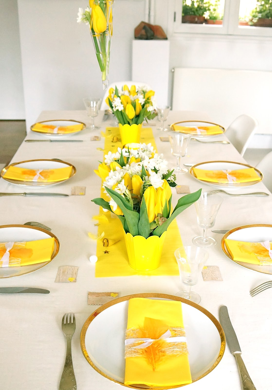 Ma boutique d co table d coration de table jaune - Decoration table printemps ...