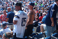 Rowdy fans at San Diego Chargers game