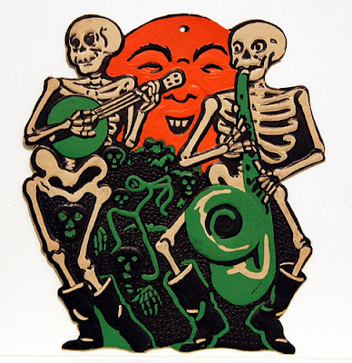 These Bone Daddies from the 1920s-50s make good poster chillins for the type of vintage old Halloween music found on Bindlegrim radio