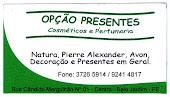 OPÇÃO PRESENTES