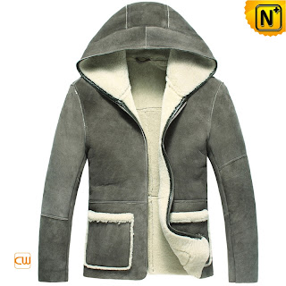 hooded sheepskin jacket