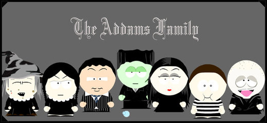 The Addams Family SouthPark por Gundambaby