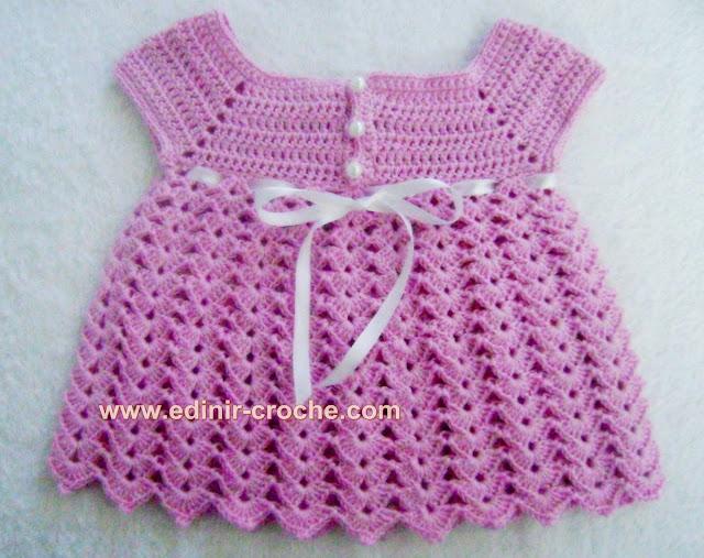 vestidos em croche com edinir-croche