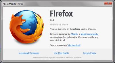 Download latest Version Of Firefox 13 تحميل أخر اصدار فايرفوكس