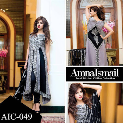 Amna Ismail Semi Stitched Chiffon Dresses 2016-2017 For Women