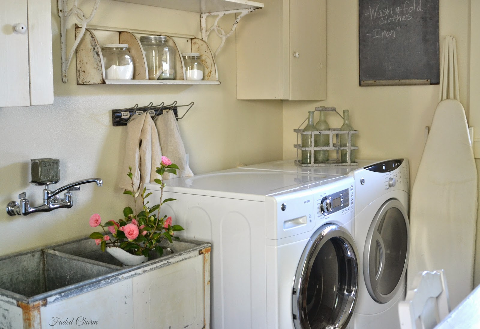 Vintage Laundry Room Alluring Faded Charm ~Laundry Room Essentials~ Inspiration
