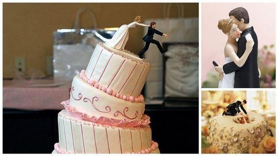Criativos e divertidos Noivinhos para enfeitar o bolo de casamento