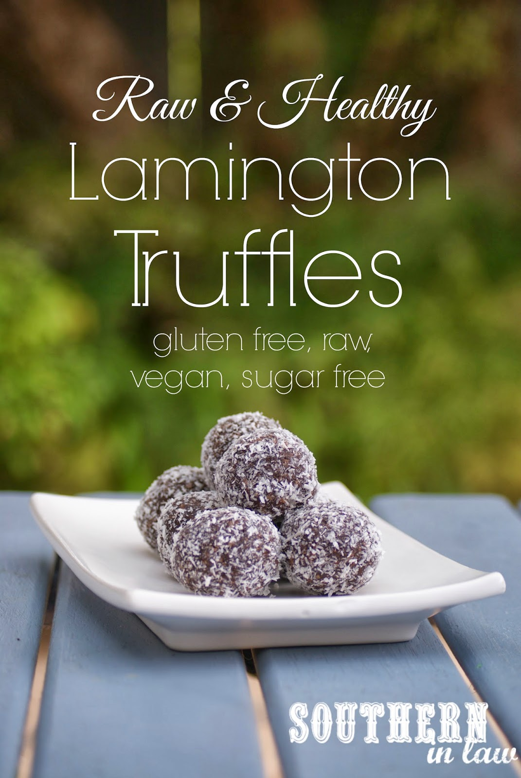 Raw Lamington Truffles - Raw Chocolate Coconut Bites - Gluten free, sugar free, vegan, clean eating friendly recipe