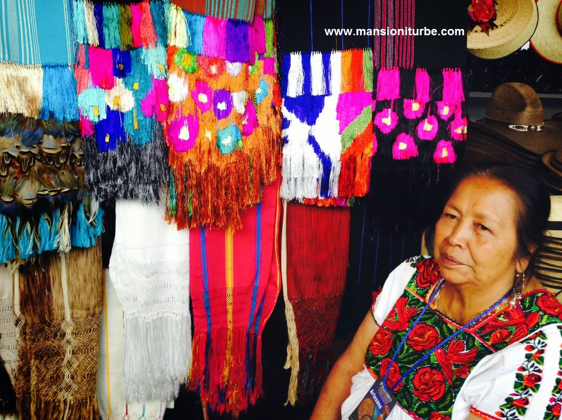 Doña Cecilia Bautista from the community of Ahuiran, visiting Pátzcuaro during the Day of the Dead Artisans Exhibition