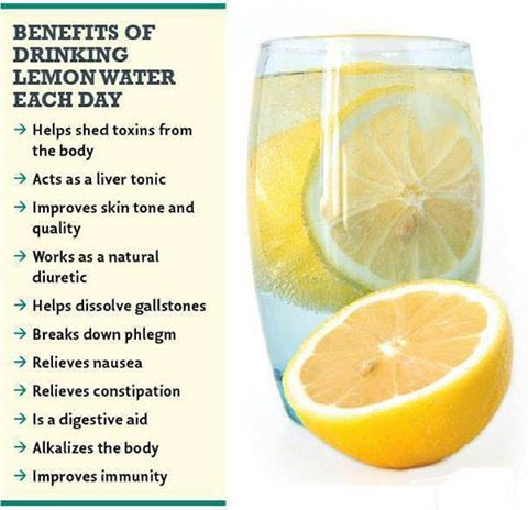 Benefits of drinking lemon water everyday