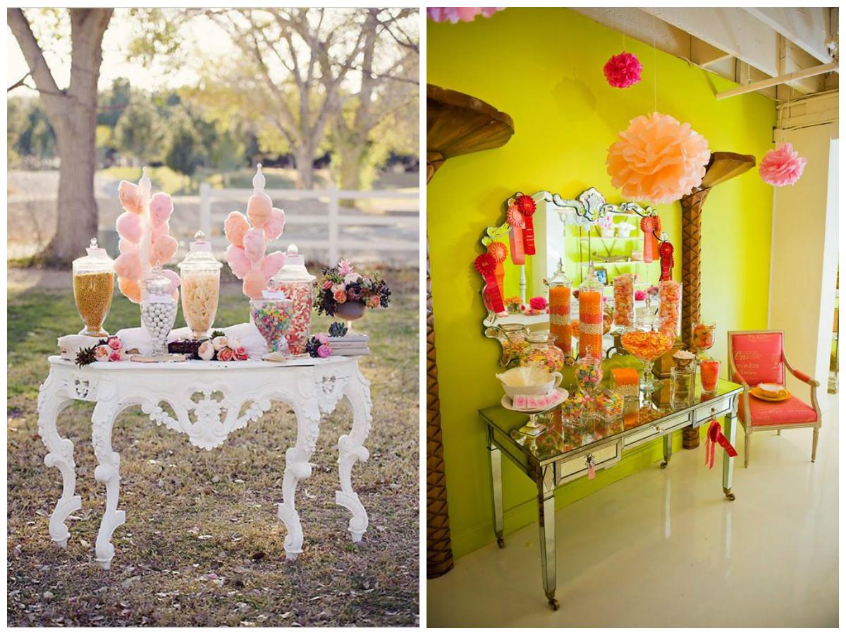 4 ideas mesas para tu mesas dulces swikar candy for Mesas de bar de madera