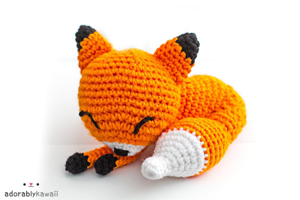 Amigurumi Patterns Fox : Sleepy Fox Amigurumi Pattern Adorably Kawaii