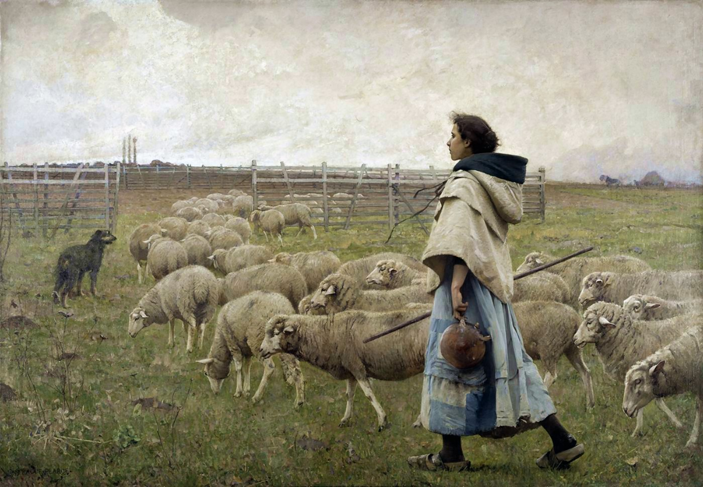 Charles  Sprague  Pearce  bergrele  retour  du  troupeau