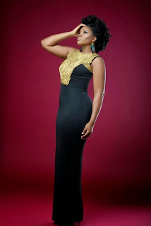 Golden Cover ; Omotola Ekeinde  Dazzzles in Cover for  new African Magazine