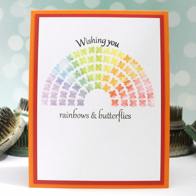 Rainbows & Butterflies by Jennifer Ingle #JustJingle #casualfridaysstamps #cards