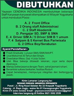Bursa Kerja Yayasan Cendekia Indonesia