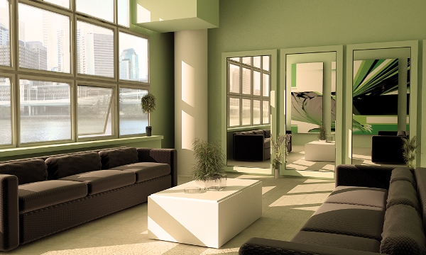 Serene Screen Is A Perfect Interior Paint Color For Stressful Economic Times