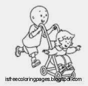 caillou coloring pages free coloring pages