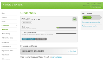 USGBC LEED Certification and Exam Account