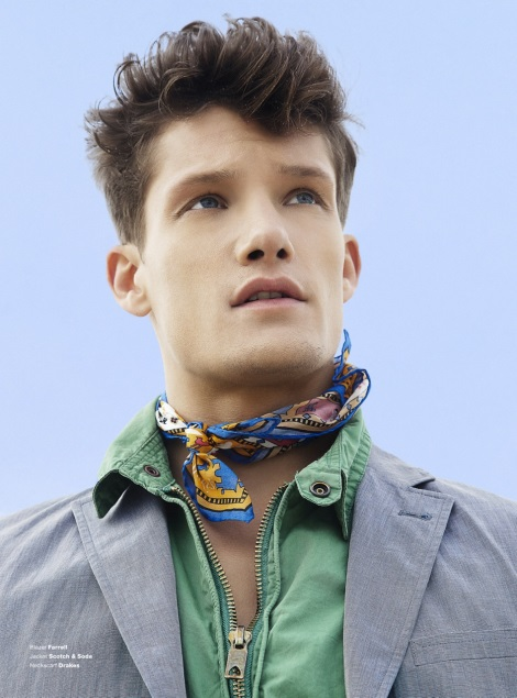 Danny Beauchamp by Alexander Beer wearing scarf