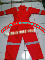 Model Coverall Fire Retardant cotton 100%