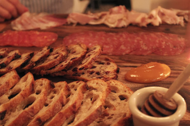 Salumi and cheeses at Belly, Cambridge, Mass.