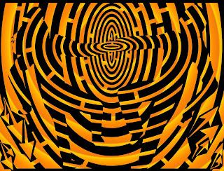 maze of orange sun dancers