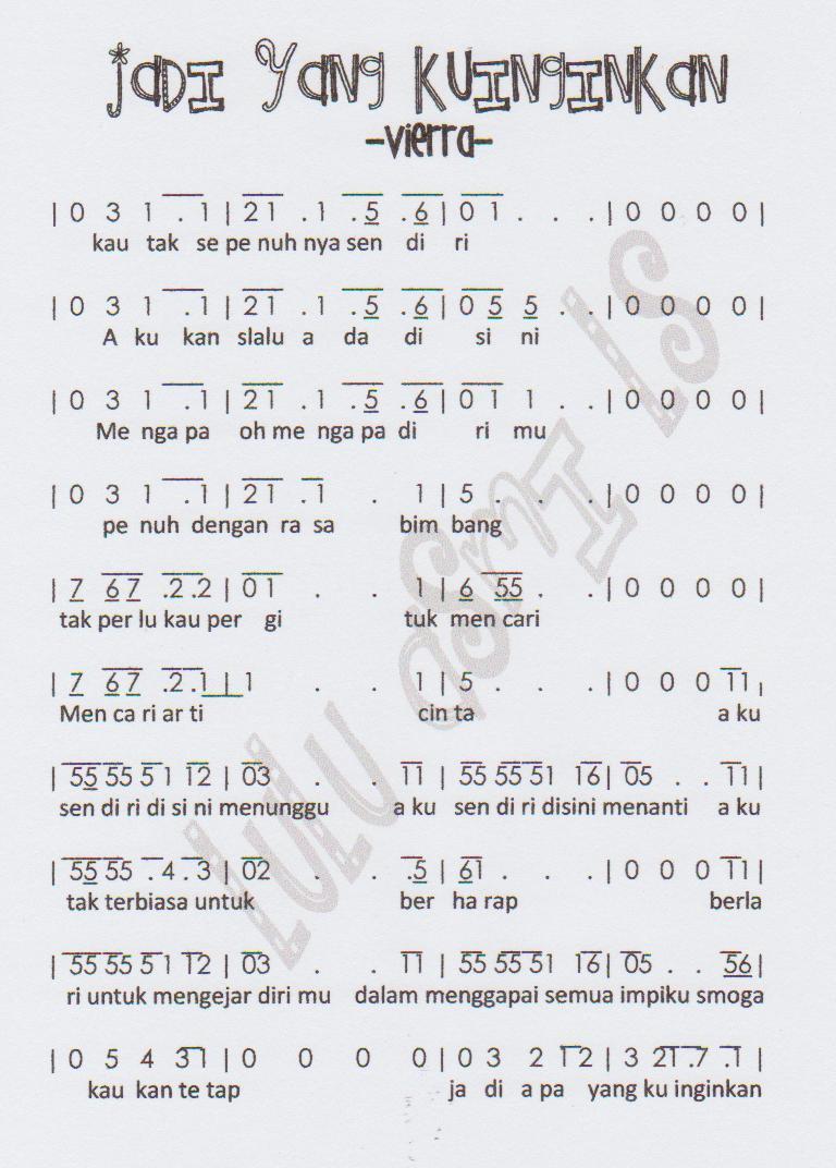 Not angka Jadi yang Kuinginkan - Vierra
