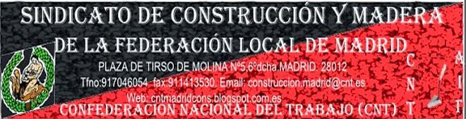 C.N.T.   Sindicato de Construcción y Madera