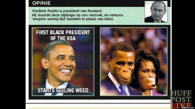 Newspaper Under Fire for Portraying Obama & Michelle As Apes