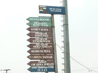 penunjuk arah wisata kota bogor