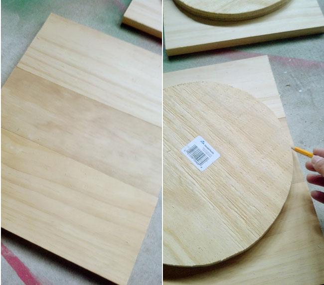 tracing circle on wood & Remodelando la Casa: Bar Stool Makeover - From Modern to Rustic ... islam-shia.org