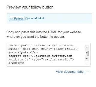 Cara Membuat Follow Button Twitter di Blogspot