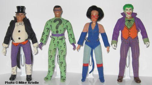 "1974 BATMAN 8/"" mego doll BOOTS SHIRT SHOES SUIT Robin Joker Penguin Riddler"