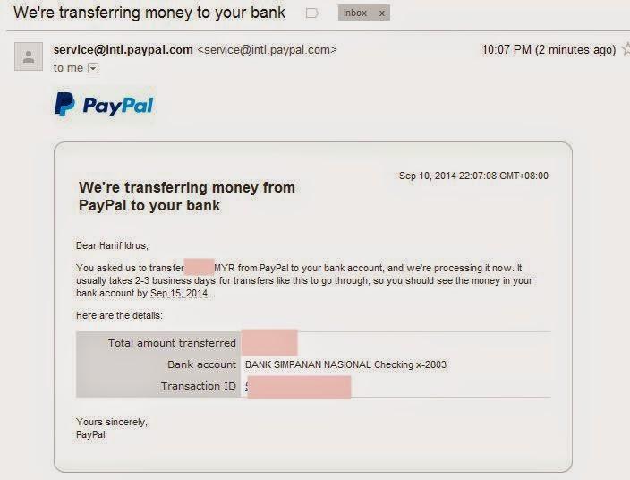Keluarkan Wang Bidvester  Dari Pay Pal