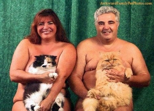 This Awkward Family Photo reminds me of DH and me in a few years