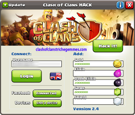 Clash of Clans Triche gemmes