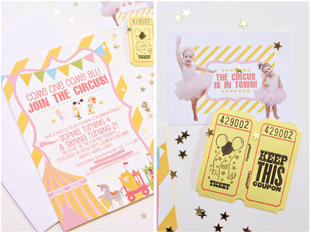 Circus Party Invitation | Vintage Circus Party Invitation Diy Touches At Home With Natalie