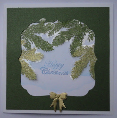 Acetate foliage Christmas card