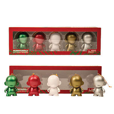 "Micro Metallic Munny 2.5"" DIY Christmas Ornament Set by Kidrobot"