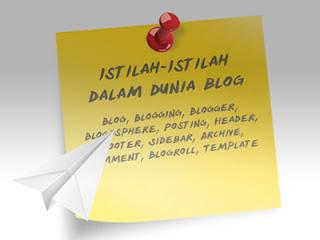 Istilah-Istilah dalam Dunia Blogger