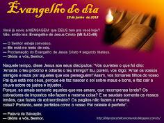 EVANGELHO DO DIA - JUNHO 2018