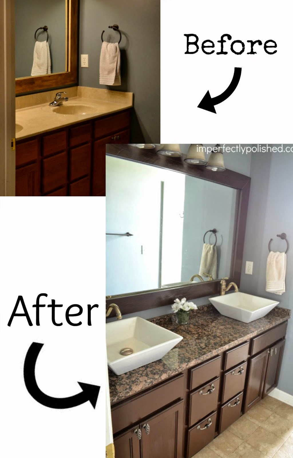 Pneumatic addict 7 best diy bathroom vanity makeovers for Bathroom cabinet makeover ideas
