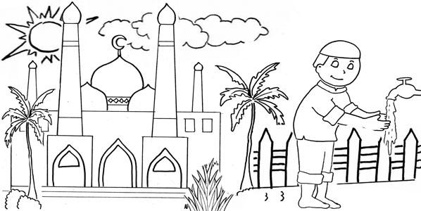 Kumpulan Sketsa Islami Lomba Mewarnai Admin Madrasah