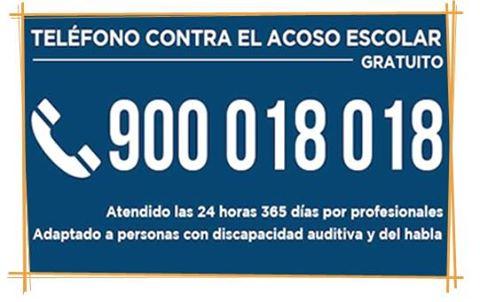 STOP ACOSO ESCOLAR: 900 018 018