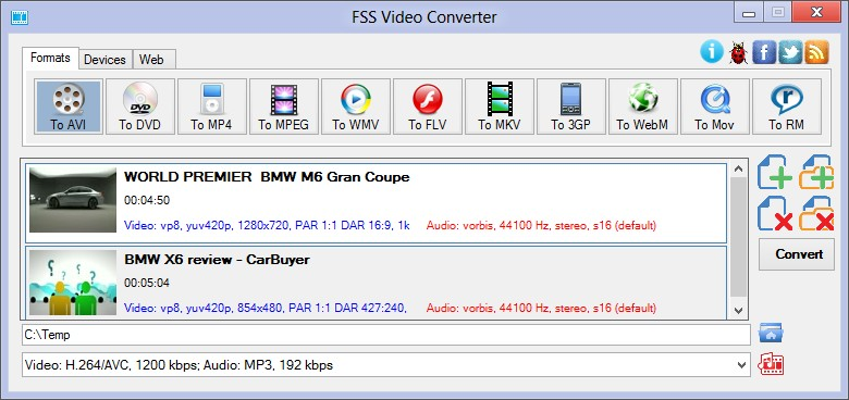 FSS Video Converter (Freeware)