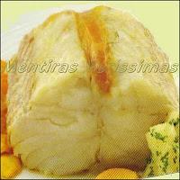 Posta de Cod Gadus Morhua, o bacalhau autêntico, o verdadeiro