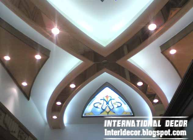 Italian Gypsum Board roof designs - Gypsum Board Roof Decorations