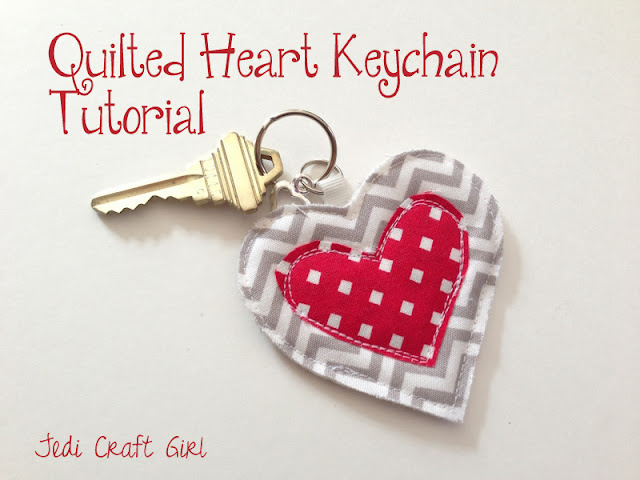Quilted Heart Keychain {Jedi Craft Girl}